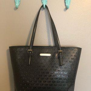 Handbags - Michael Kors Black Patent Leather Tote